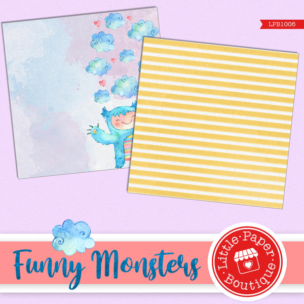 Funny Monsters Digital Paper LPB1006