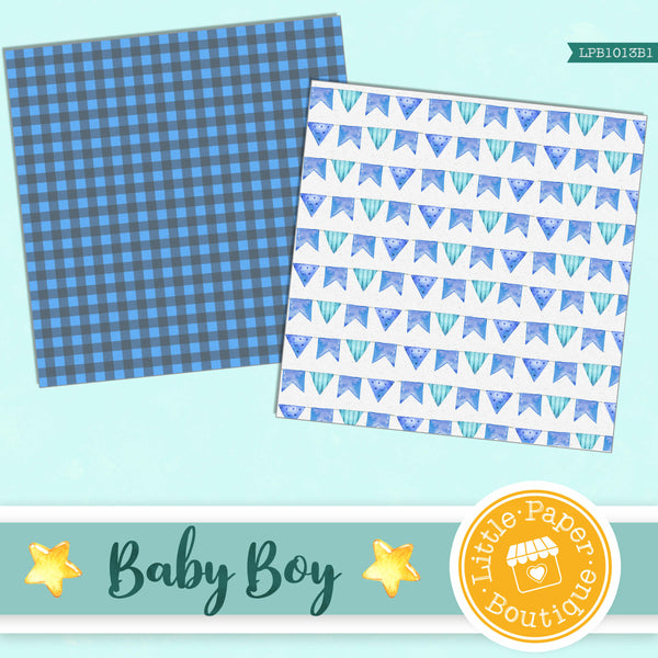 Baby Boy Digital Paper LPB1013B1