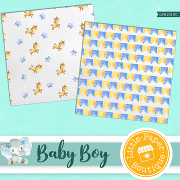 Baby Boy Digital Paper LPB1013B