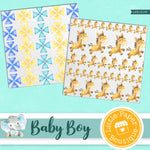 Baby Boy Digital Paper LPB1013B3