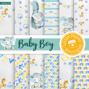 Baby Boy Digital Paper LPB1013A
