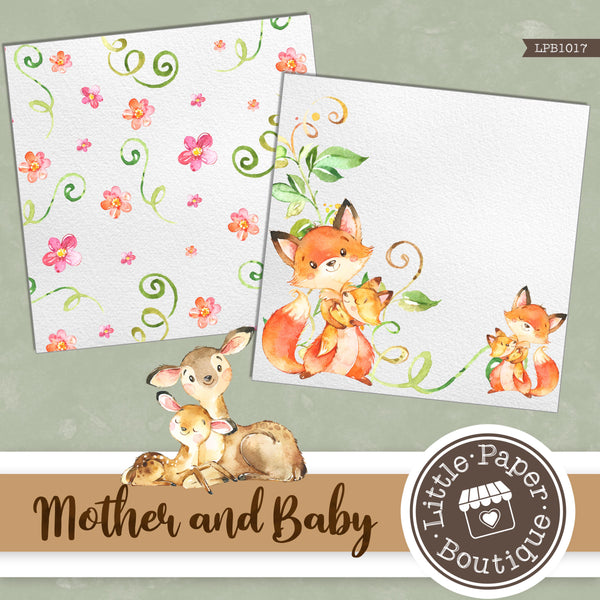 Mother and Baby Digital Paper LPB1017