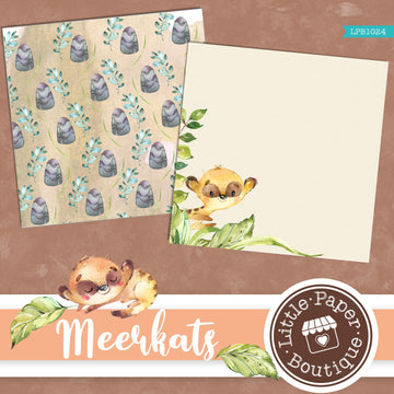 African Meerkat Watercolor Digital Paper LPB1024