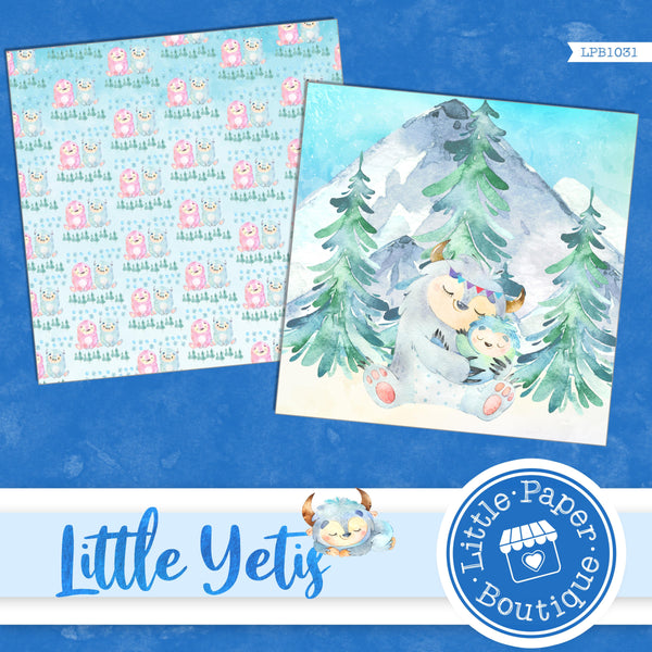 Little Yetis Digital Paper LPB1031