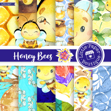 Honey Bees Digital Paper LPB1040
