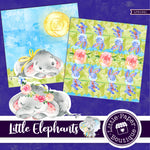 Little Elephants Digital Paper LPB1041