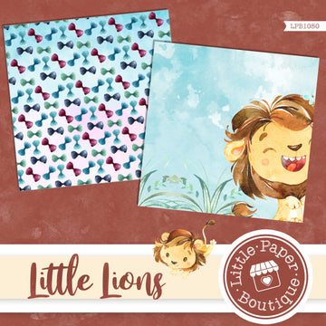 Little Lions Watercolor Digital Paper LPB1050