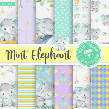 Mint Elephant Digital Paper LPB1064A