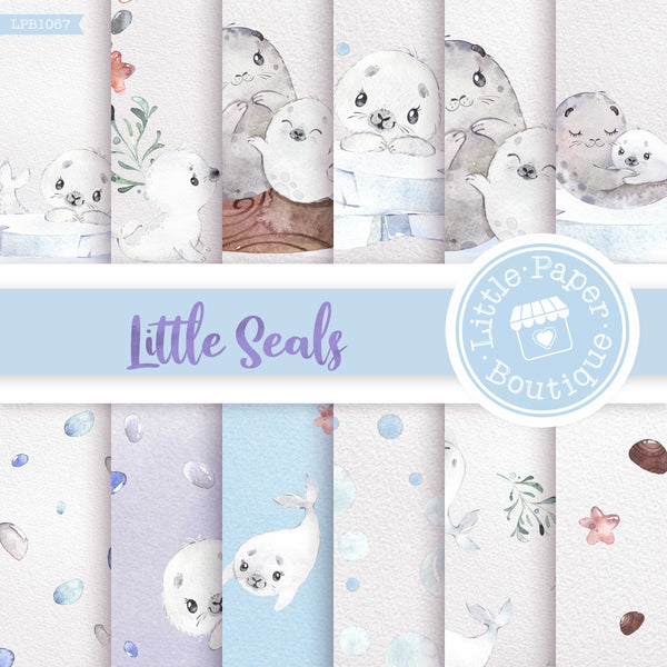 Little Seal Digital Paper LPB1067