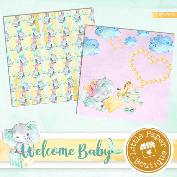 Welcome Baby Digital Paper LPB1070