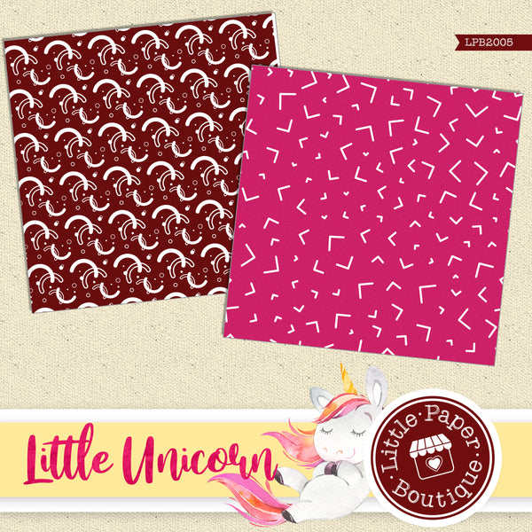 Little Unicorn Digital Paper LPB2005