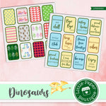 Dinosaur Digital Ephemera Tags Scrapbook Digital Paper #Quarantine #StayHome #Social Distancing  LPB3004C