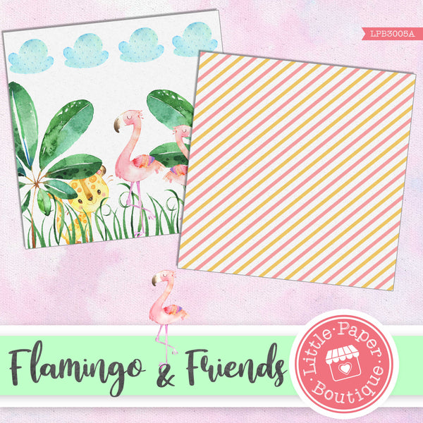 Flamingo & Friends Digital Paper LPB3005A