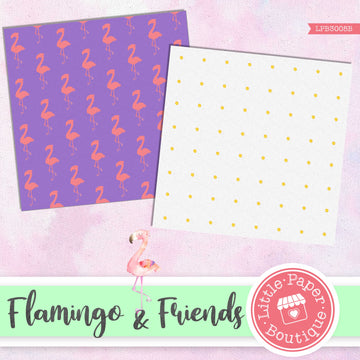 Flamingo & Friends Digital Paper LPB3005B