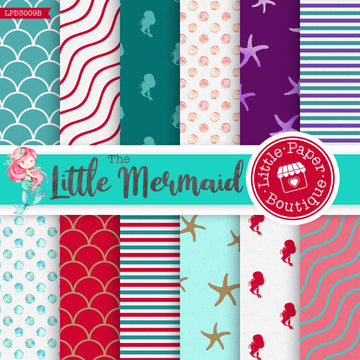The Little Mermaid Digital Paper LPB3009B