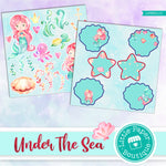 Under The Sea Watercolor Ephemera Tags Digital Paper LPB3011C