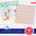 Fourth of July Digital Paper LPB3018A