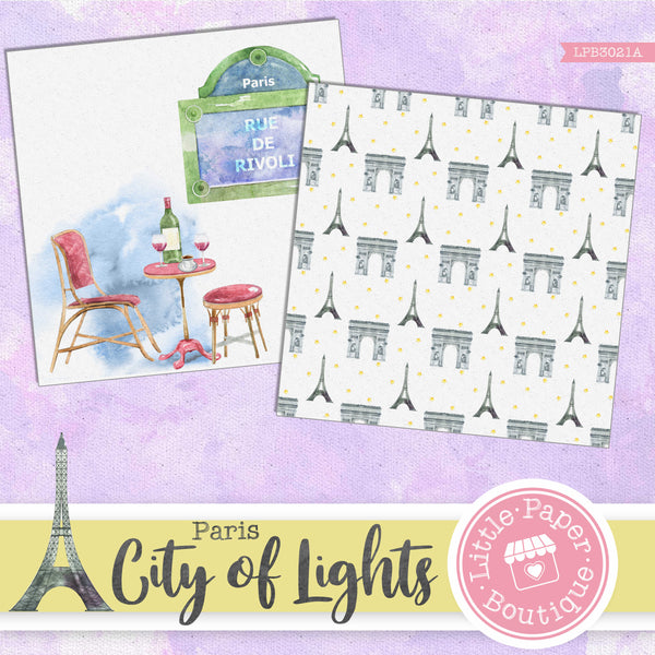 City of Lights Digital Paper LPB3021A