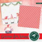 Christmas Gnomes Watercolor Digital Paper LPB3023A
