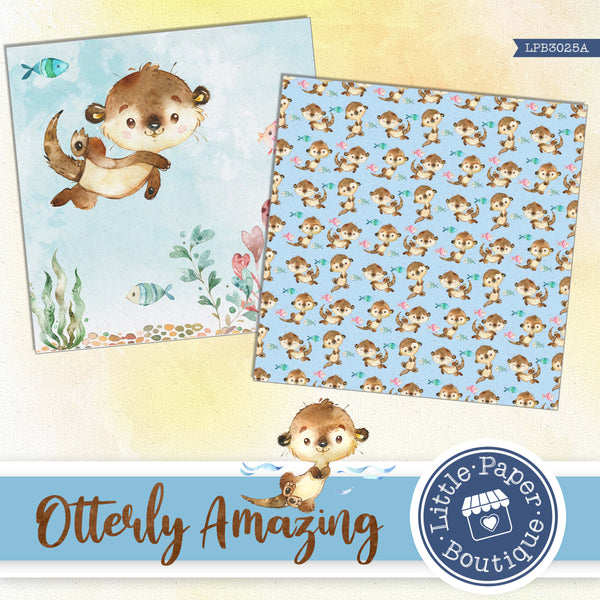 Otterly Amazing Otters Digital Paper LPB3025A
