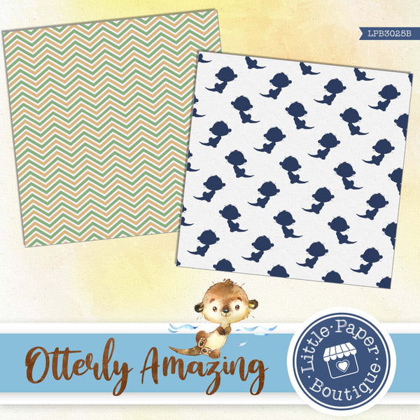 Otterly Amazing Otters Digital Paper LPB3025B