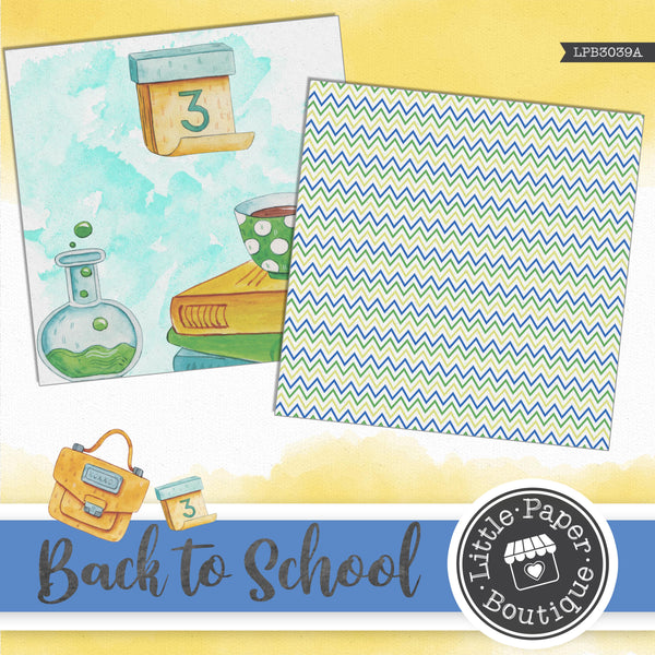 Back to School Digital Paper LPB3039A