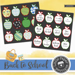 Back to School Watercolor Ephemera Tags Digital Paper LPB3039C