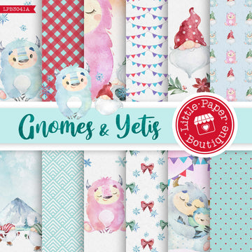 Gnomes and Yetis Digital Paper LPB3041A
