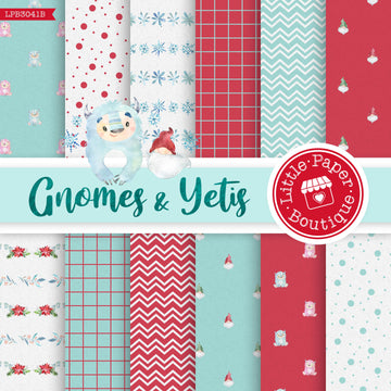 Gnomes and Yetis Digital Paper LPB3041B