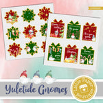 Yuletide Gnomes Watercolor Ephemera Tags Digital Paper LPB3045C