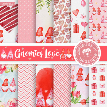 Gnomies Love Digital Paper LPB3046A