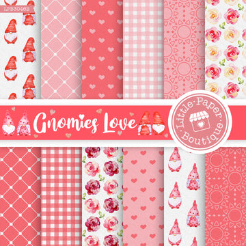 Gnomies Love Digital Paper LPB3046B