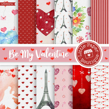 Be My Valentine Digital Paper LPB3047A