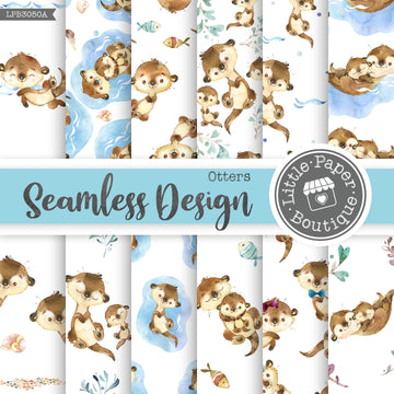 Otters Seamless Digital Paper LPB3050A