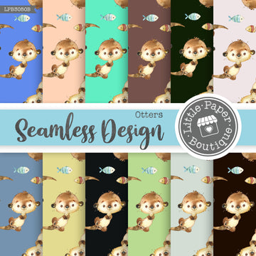 Otters Seamless Digital Paper LPB3050B