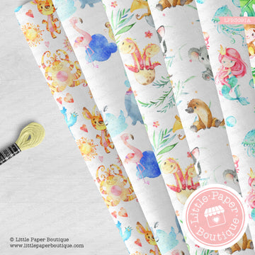 Assorted Animals Seamless Digital Paper LPB3091A