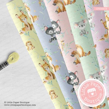 Assorted Animals Seamless Digital Paper LPB3091B
