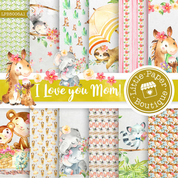 I Love You Mom Digital Paper LPB5006A1