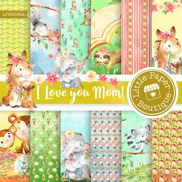 I Love You Mom Digital Paper LPB5006A