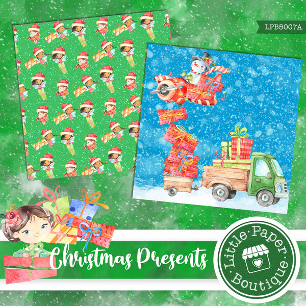 Christmas Presents Watercolor Digital Paper LPB5007A
