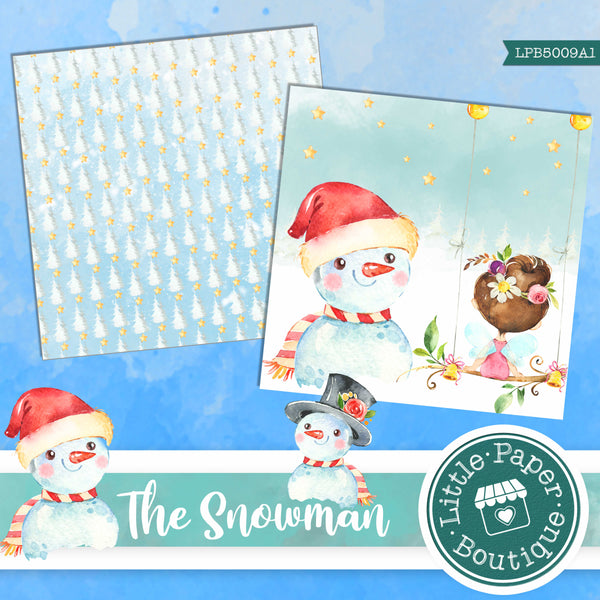 The Snowman Watercolor Digital Paper LPB5009A1