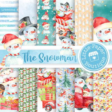 The Snowman Watercolor Digital Paper LPB5009A