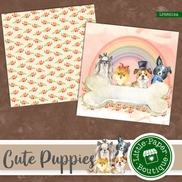 Cute Puppies Digital Paper LPB5019A