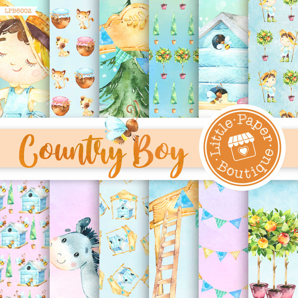 Country Boy Farm Digital Paper LPB6002