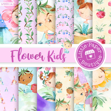 Flower Kids Digital Paper LPB6011A