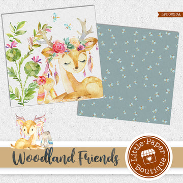 Woodland Friends Digital Paper LPB6020A
