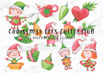 Christmas Elfs Digital Clipart CA019