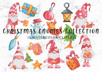 Christmas Gnomes Digital Clipart CA018