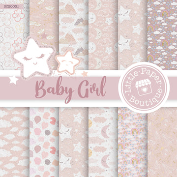 Baby Girl Seamless Digital Paper SCS0001