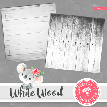 White Wood Digital Paper PS001